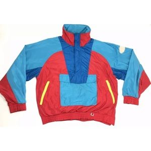Vintage Hard Corps Jacket Ski Sz XL Colorful Coat